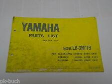 Ersatzteilliste / Spare Parts List Yamaha LB 3 M / LB3M '79 Stand 1978