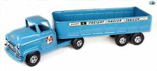 Awesome Original Vintage Early Buddy L Freight Hauler GMC 550 Truck & Trailer