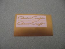 CHRIS CRAFT NEW STYLE  GOLD  VINYL DECALS  FOR DUMAS MODEL WOODEN