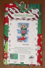 "Super Size Christmas Stocking Holiday Home Crafts Patchwork Quick Easy 10"" x 24"""