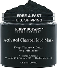 MUD MASK Activated Charcoal Acne Scar Exfoliation Anti Cellulite HYALURONIC ACID