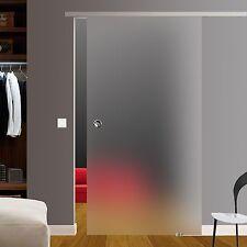 Glasschiebetür Glas Schiebetür satiniert 900x2050mm BS-900D