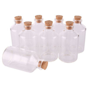 60ml 40x75x12.5mm Cute Glass Spice Jars with Cork Stopper Lid for Wedding Party