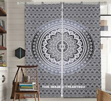 Indian Mandala Hippie Ombre Door Curtain Cotton Tapestry Decor Window Curtains