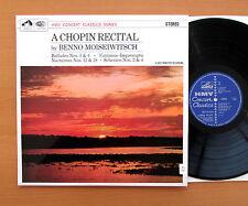 SXLP 30075 A Chopin Recital Benno Moiseiwitsch 1959 HMV Stereo EXCELLENT