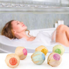 6PCS/Set Organic Bath Bombs Essential Oil Sea Salt Handmade Bath Ball Skin Care