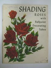 Vintage 60's Booklet SHADING ROSES Ballpoint Decorating Tubes Fabric Paint Pens