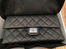 Chanel Black Caviar Waist Bag with Silver Hardware