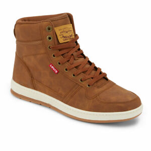 Levi's Mens Stanton Waxed Fashion Synthetic Leather Lace-up Hightop Sneaker Shoe