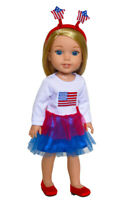 America's Sweetheart Outfit for Wellie Wisher Dolls Clothes 14 Inch Doll Clothes