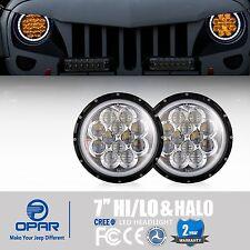 Opar 7'' Amber Spider DRL Halo Led Headlights for Jeep Wrangler TJ JK Unlimited