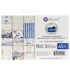 "Santorini Journaling Cards Pad 4""x6"" 45/pkg-15 Designs/3 Each"