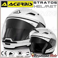 CASQUE MOTO SCOOTER ACERBIS STRATOS CROSSOVER APPROUVE JET/INTEGRAL BLANC S