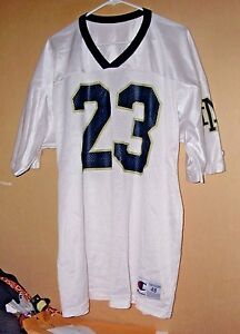 Vintage Champion Products Inc. 100% nylon Notre Dame football jersey-48 !