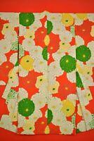 Vintage Japanese Silk Antique BORO KIMONO Kusakizome Dyde Textile Kids /YC86/555