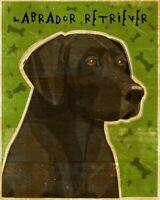 by John W NEW Labrador Retriever Golden Yellow Art Print Dog Lab Poster 13x19