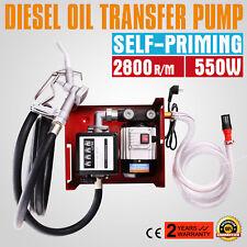 220V Electric Fuel Self-Priming Transfer Pump Bio Oil Diesel Kerosene 60L/Min