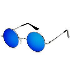 CASPAR Unisex Large Retro Sonnenbrille Rundbrille Hippi - Nickelbrille Übergröße