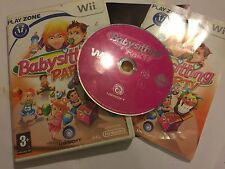 NINTENDO Wii BABY SITTING GAME BABYSITTING PARTY +BOX INSTRUCTIONS COMPLETE PAL
