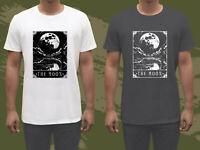 VTG Deadly Tarot T-shirt The Moon Heather Men's Black & White Tee T shirt GILDAN