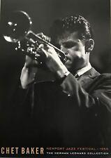 Chet Baker Newport Jazz Festival 1955 Vintage Poster Reproduction 23 X 35