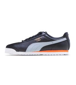 Men's Puma Roma Basic + Black/Grey/Orange (369571 26)