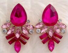 Pink Tones Gem Stud Statement Earrings •Wedding Gift Present BIRTHDAY EVENING