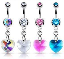 Joyas de cristal de acero quirúrgico para el cuerpo