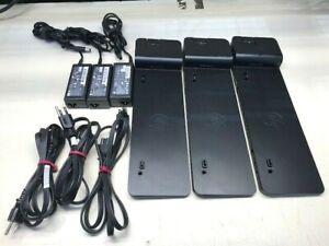 Lot of 3 x HP 2013 UltraSlim Docking Station D9Y32UT#ABA w/ HP Power adapters