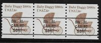 US Scott #1902a, Coil of 3 1984 Baby Buggy 1880s 7.4c FVF MNH