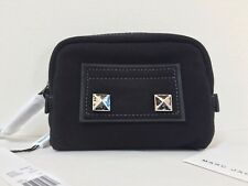 NWT Marc Jacobs New York Small Chipped Studs Studded Cosmetics Pouch Case Black