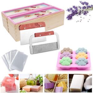 Soap Making Kit Adjustable Wood Box Loaf Soap Mould Cutter Slicer Xmas DIY Gifts