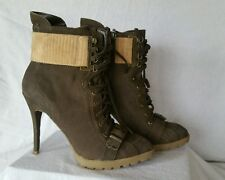 Rachel Roy NEW 9.5 M Wava Dark Green Leather lace up ankle boots