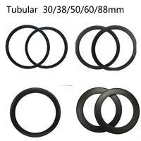 Full Carbon Rims 30/38/50/60/88mm Tubular Road Track Bike Rim 20.5/23/25mm 700C