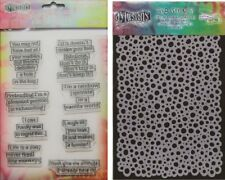 Ranger Dylusions Clear Stamp & Stencil Set - Dyan Reaveley - Quote Bubbles