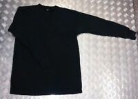 Genuine German Army Long Sleeve Thermal Top /Jumper / Shirt Overdyed Black