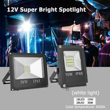 10W/30W 12V LED Flood Light Outdoor Wall Projector Floodlight IP65 Waterproof