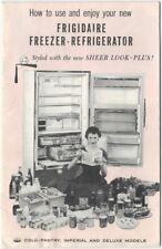 1957 Frigidaire Freezer-Refrigerator Booklet Household Appliance