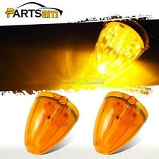 2x Torpedo Top Clearance Lights Amber 17 LED Replacement Lens for Mack/Peterbilt