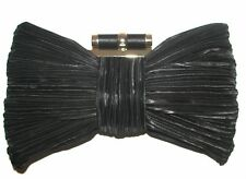 KATE LANDRY Bow Black handbag purse clutch NEW