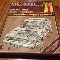 Haynes Manual: VW Rabbit, Golf, Jetta, Scirocco, Pick-Up 1975-1992