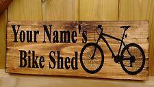 Signo personalizado de bicicletas de montaña bmx habitación Garaje Cobertizo Colgador racks de almacenamiento de información
