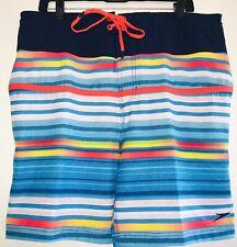 "Speedo E-Board 19"" Swim Trunks UV 50+ 4 Way Stretch Surf Shorts New Large $59.00"