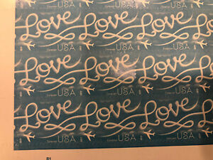 100 - USPS Love Skywriting Forever Stamps. Sheets of 20 Free Shipping