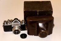 ZENIT-C Soviet USSR 35mm Camera plus Industar-50 3,5/50 mm lens Case and box
