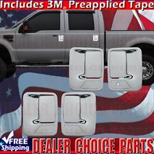 1999-2016 FORD F250 F350 F450 F550 SUPERDUTY Chrome Door Handle COVERS W/O PSK
