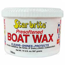 STAR BRITE PRESOFTENED MARINE BOAT PASTE WAX 14 oz CLEANS SHINES PROTECTS