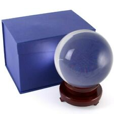 More details for 15cm crystal ball divination with a wooden stand and box sp0526 ✔uk seller