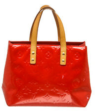 Louis Vuitton Red Vernis Leather Monogram Reade PM Bag