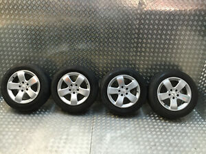 2002-2009 MERCEDES E CLASS W211 4x ALLOY WHEELS WITH TYRES 225/55/16 A2114014502